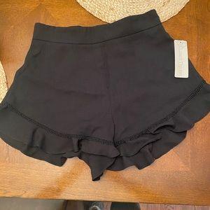 Lizard Thicket Black Ruffle Dress Short - NWT